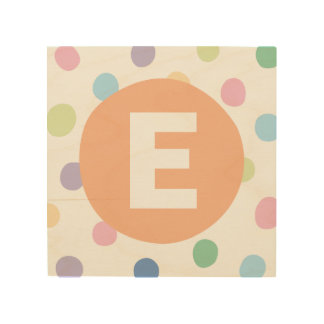 Rainbow Dots with Initial Letter Kids' Room Decor