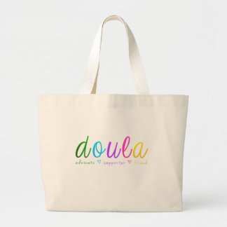 Rainbow Doula Design Large Tote Bag