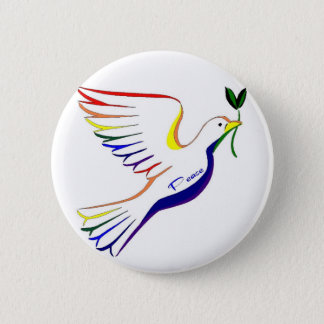 Rainbow Dove 6 Cm Round Badge