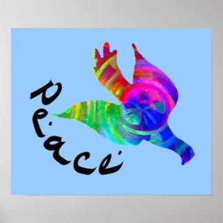 Rainbow Dove Peace Poster