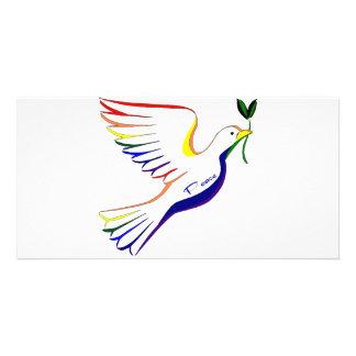 Rainbow Dove Photo Greeting Card