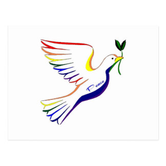 Rainbow Dove Postcard