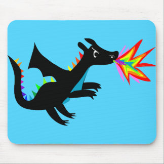 Rainbow Dragon Cute Dragon Mousepad mouse pad