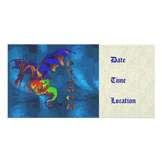 Rainbow Dragon Customized Photo Card