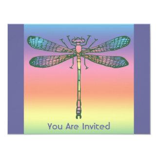Rainbow Dragonfly 11 Cm X 14 Cm Invitation Card