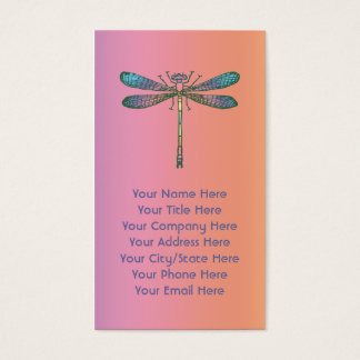 Rainbow Dragonfly Business Card