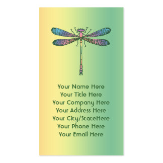 Rainbow Dragonfly Business Card Template