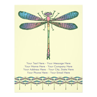 Rainbow Dragonfly Personalized Flyer