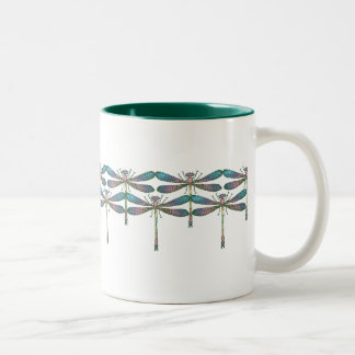 Rainbow Dragonfly Mugs