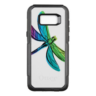 Rainbow Dragonfly OtterBox Commuter Samsung Galaxy S8+ Case