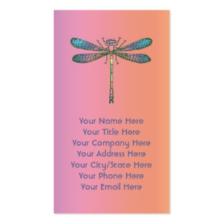 Rainbow Dragonfly Pack Of Standard Business Cards