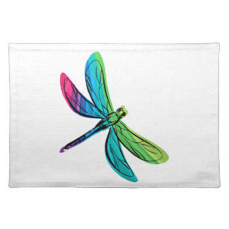 Rainbow Dragonfly Placemats