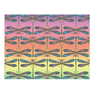 Rainbow Dragonfly Postcard