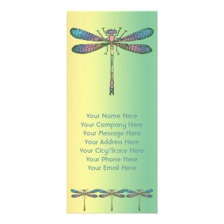 Rainbow Dragonfly Rack Card Template
