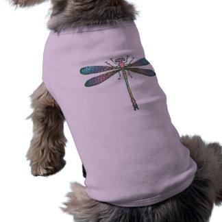 Rainbow Dragonfly Sleeveless Dog Shirt