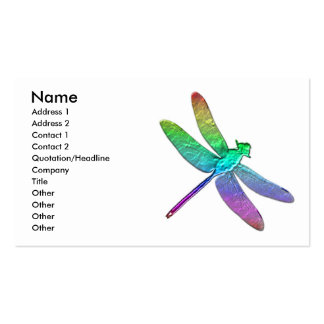 Rainbow dragonfly two business card