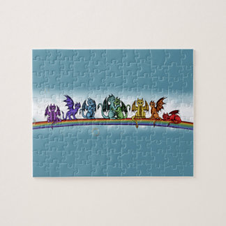 Rainbow Dragons Jigsaw Puzzle