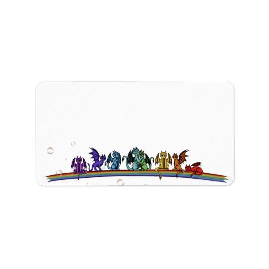 Rainbow Dragons Label
