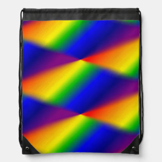 Rainbow Drawstring Backpack