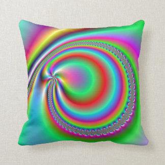 Rainbow Dream Spirals Throw Pillow