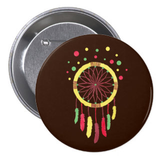 Rainbow Dreamcatcher 7.5 Cm Round Badge