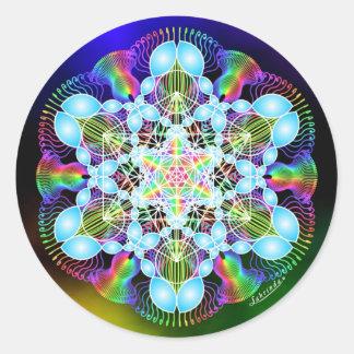 Rainbow Dreaming Round Sticker