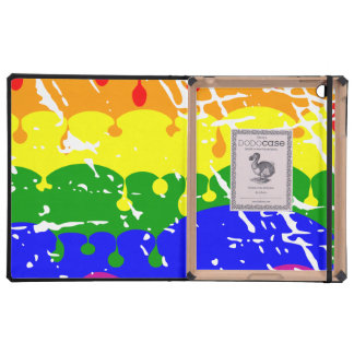 Rainbow Dripping Paint Distressed Case For iPad