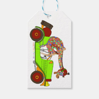 Rainbow Driving Fast Gift Tags
