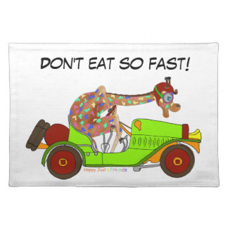 Rainbow Driving Fast Placemat