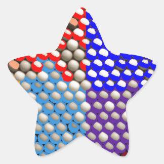 RAINBOW DROPS : Colorful Dot patterns Star Sticker