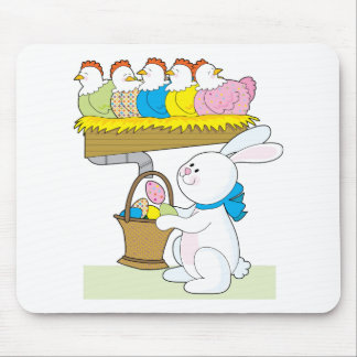 Rainbow Easter Chickens Mouse Pad