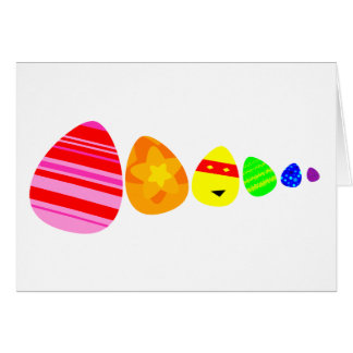 Rainbow Easter Eggs Card