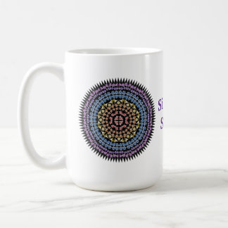 Rainbow Easter Lily Mandala Mug
