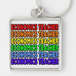 Rainbow Economics Teacher Keychains