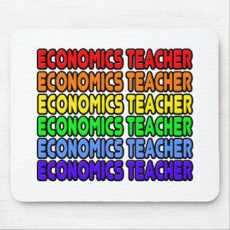 Rainbow Economics Teacher Mouse Pad