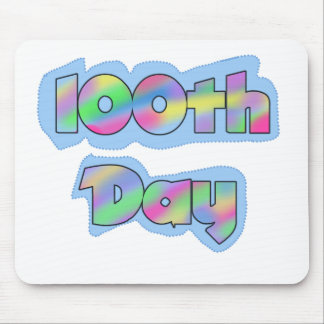 Rainbow Effect 100th Day Mouse Pad