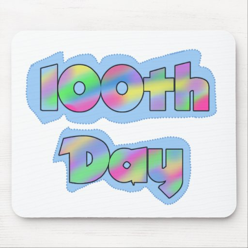 Rainbow Effect 100th Day of School Tshirts Mousepads