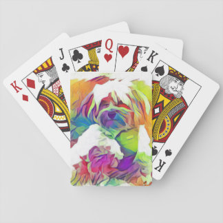 Rainbow Effect Copper the Havapookie Playing Cards