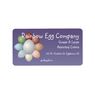Rainbow Eggs Egg Carton Label Address Label