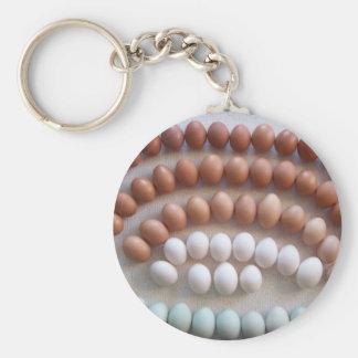 Rainbow Eggs for Rare Breed Hens Key Ring