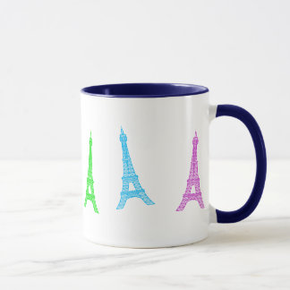 Rainbow Eiffel Tower Mug