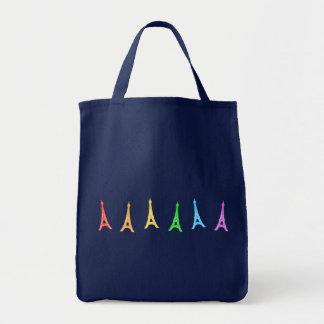 Rainbow Eiffel Tower Tote Bag