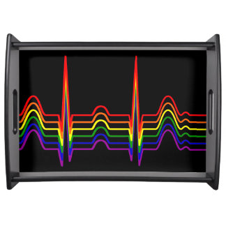 Rainbow EKG Bi-G Serving Tray