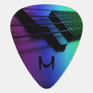 Rainbow Electric Guitar Monogram Guitar Pick