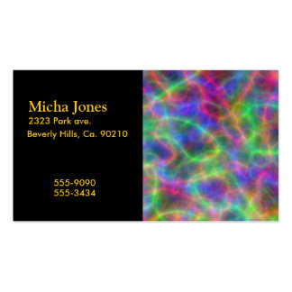 Rainbow Electrical Charges Of Light Pack Of Standard Business Cards