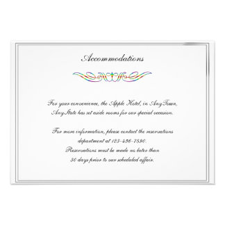 Rainbow Elegance Brides Gay Wedding Insert Personalized Invite