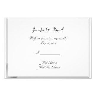 Rainbow Elegance Brides Wedding Response Card