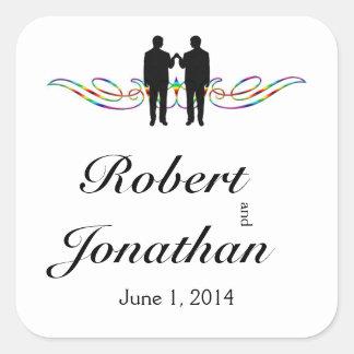 Rainbow Elegance Groom Wedding Envelope Seal