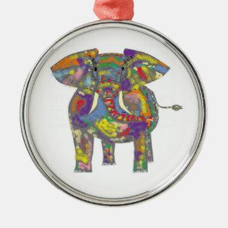 Rainbow Elephant Christmas Ornament
