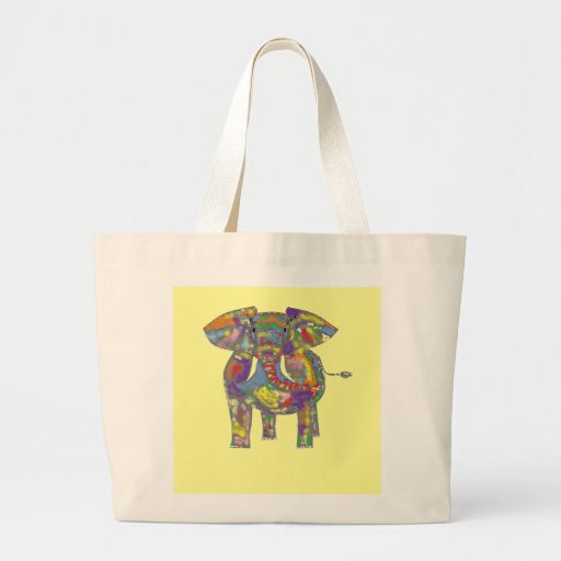 Rainbow Elephant, colourful design,for anyone. Tote Bags